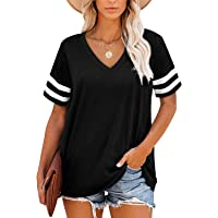 Deals on Angerella Womens T Shirts V Neck Short Sleeve Tops