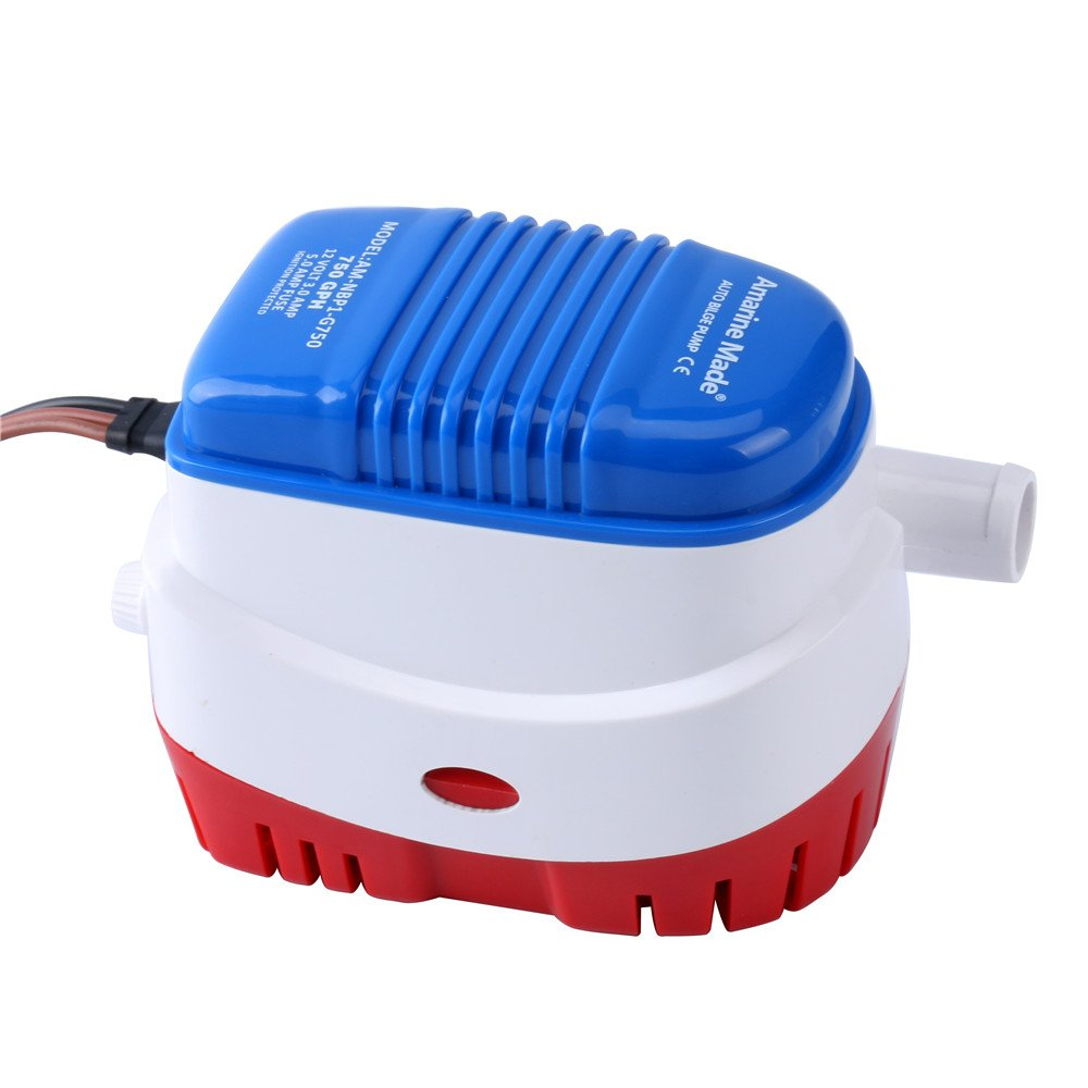 Amarine Made Automatic Submersible Boat Bilge Water Pump Switch On Rule Pumps Wiring Diagram 12v 750gph Auto With Float New A Sports Outdoors