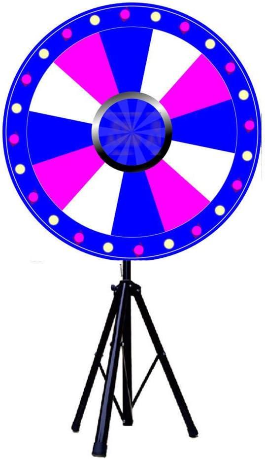 Rueda de premios de borrado en seco de 12 Ranuras + Soporte Fortune Spinning Game Tradeshow 24