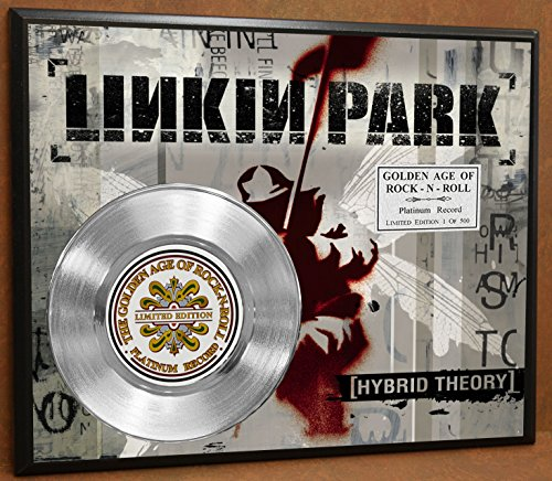G.A.R.R. Linkin Park Hybred Theory Platinum Record Poster Art Limited Edition Commemorative Music Memorabilia Display Plaque ()