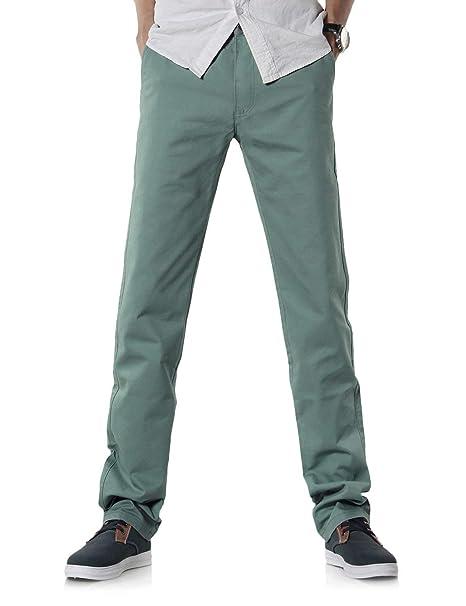 BOLAWOO Bolsillos Laterales Bolsillos Laterales Colores con Cremallera  Rectos Pantalones Sólidos Exteriores Formales Mode De Marca Pantalones  Pantalones  ... aa8f461134a2