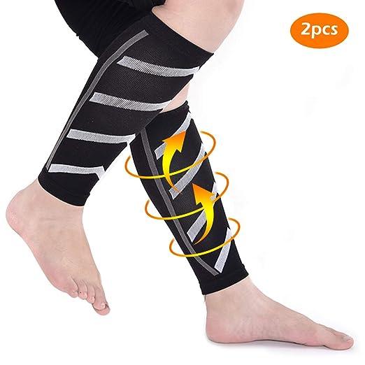 1 par Compresión Ciclismo Calentadores de piernas Espinilleras de ...