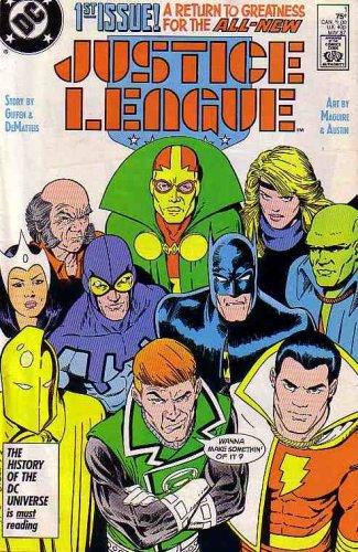 Justice League America 1987 series # 35 very fine comic book