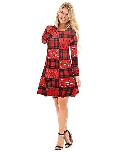 Vestito da donna a maniche lunghe con maniche lunghe a maniche corte