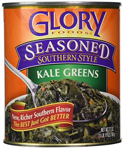 Glory Foods, Seasoned, Kale Greens, 27oz Can (Pack of 4) by Glory Foods