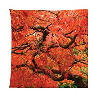 Japanese maple trees theme Zippered Pillow Cases Cover Cushion Case 18x18 Inch