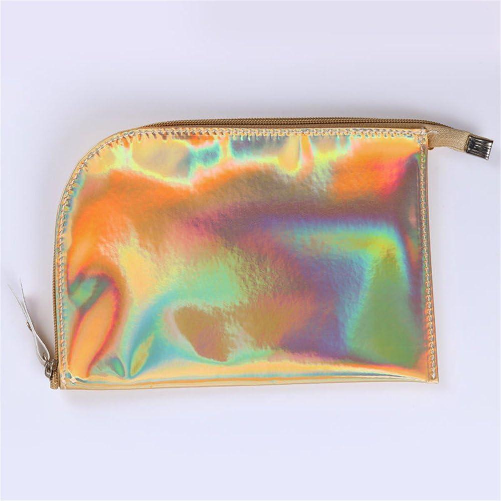 Nacido Pretty 1pieza holográfico bolsa de cosméticos tóner iridiscente color estuche de maquillaje Toiletry funda bolso de cremallera de almacenamiento: Amazon.es: Belleza