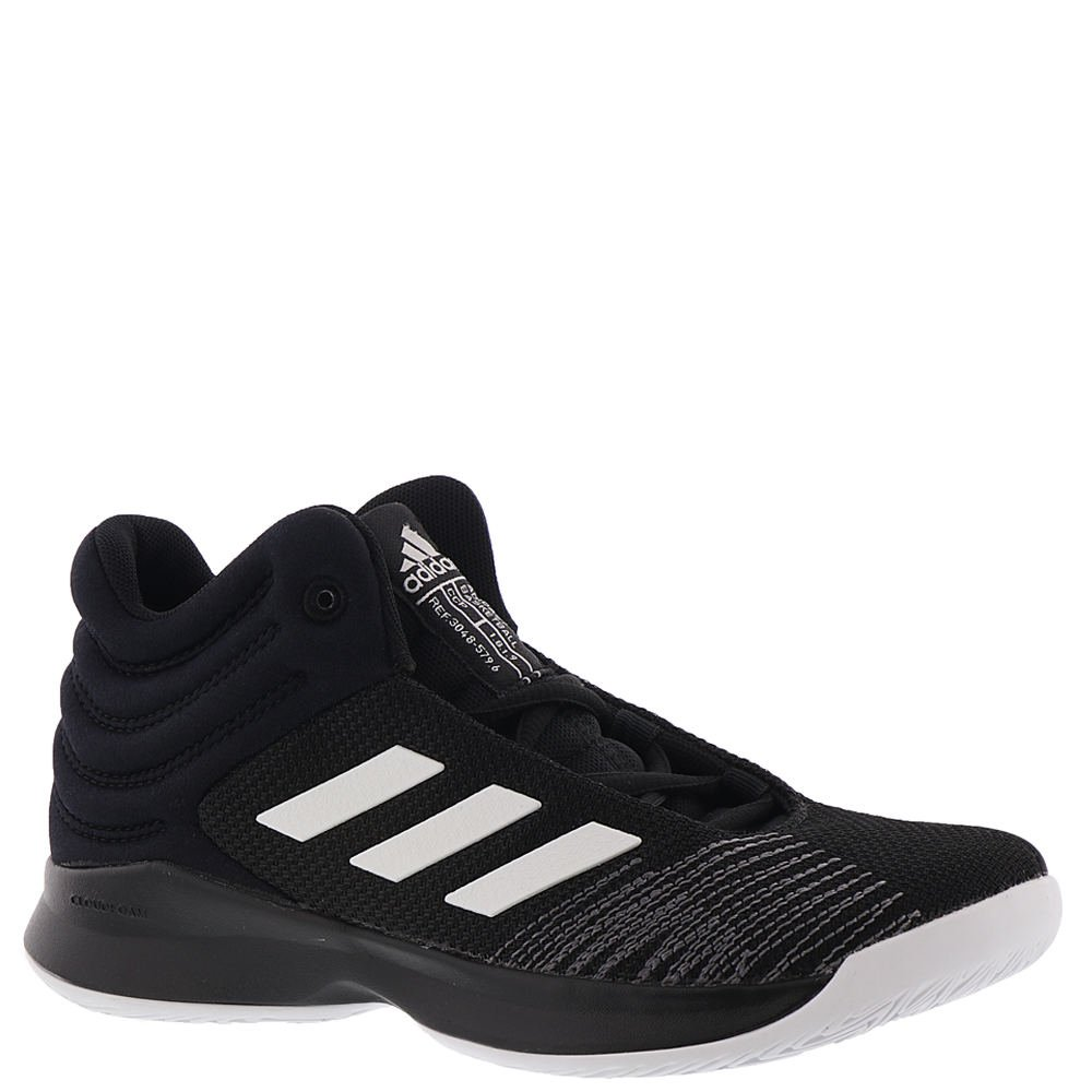adidas Unisex-Kids Pro Spark 2018 Basketball Shoe, Black/White/Grey, 10.5K M US Little Kid