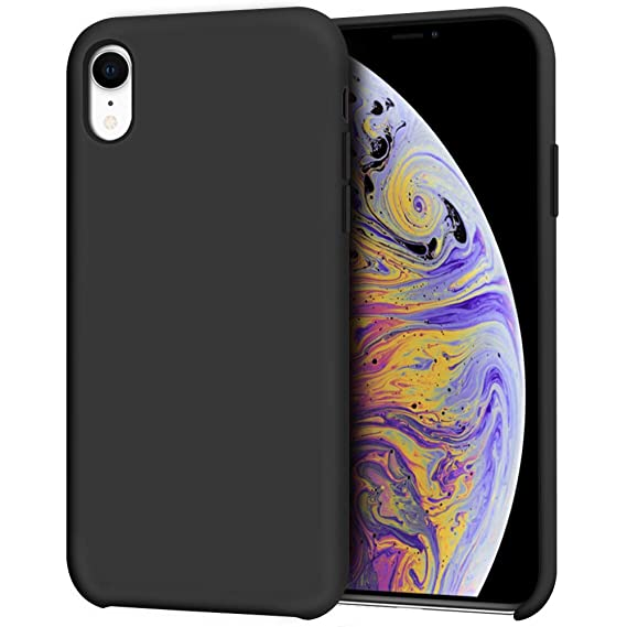 finest selection d0d19 57542 iPhone XR Case, Anuck Anti-Slip Liquid Silicone Gel Rubber Bumper Case with  Soft Microfiber Lining Cushion Slim Hard Shell Shockproof Protective Case  ...