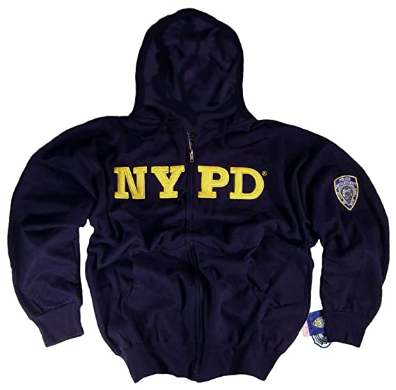 c4a416972 NYPD Shirt Hoodie Sweatshirt Navy Blue Apparel Officially Licensed  Merchandise by The New York City Police Department: Amazon.co.uk: Clothing