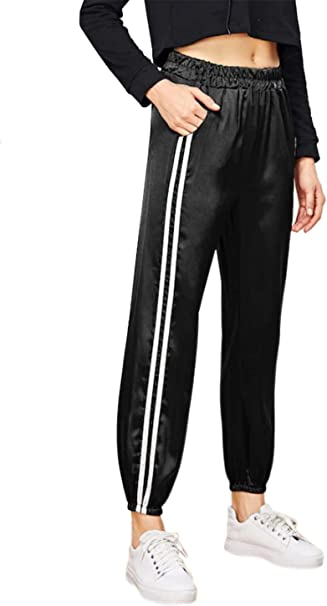 Uni-Wert Pantalones Deportivos para Mujer Pantalones Harem de ...