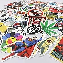 100PCS Winboss Random music film Vinyl Skateboard Guitar Travel Case sticker lot pack decal