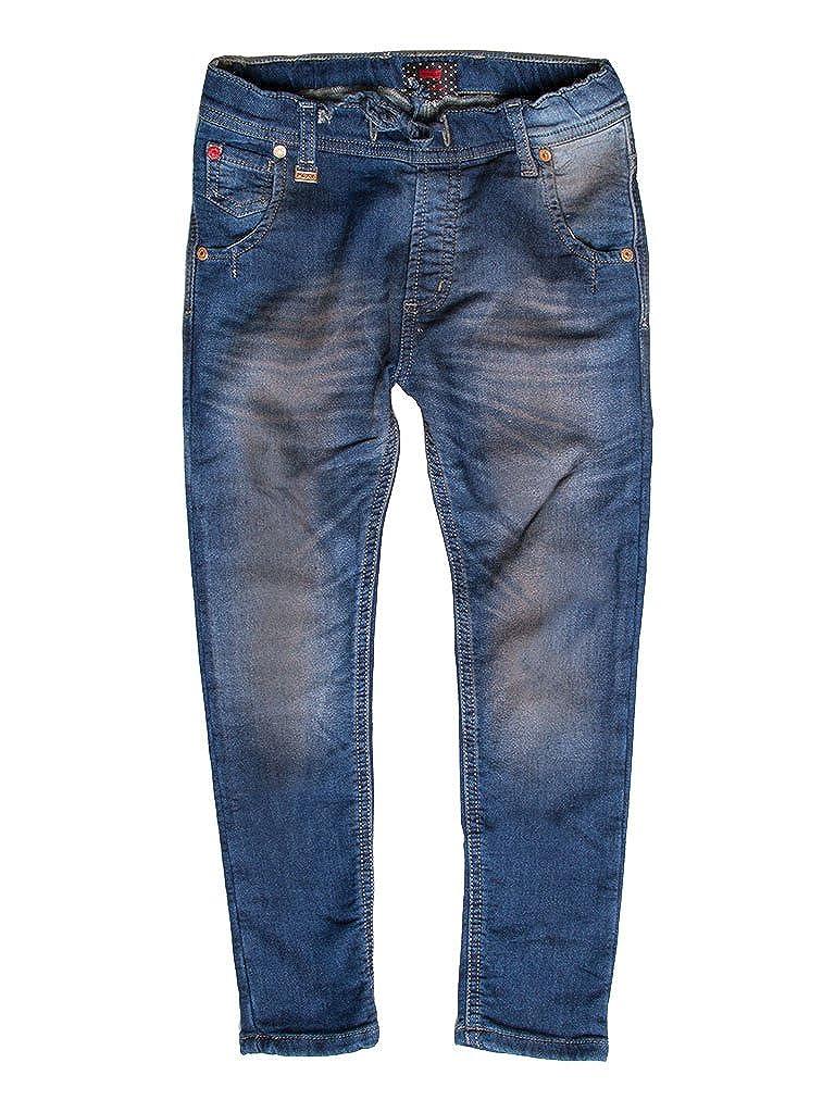 125 - Lavage Bleu Foncé 2-3 ans (hauteur  92 cm) voiturerera Jeans - Jogger Jeans 750 pour Fille, Style Droit, Style Denim, Doubleure Polaire, Taille Slim, Taille Normale