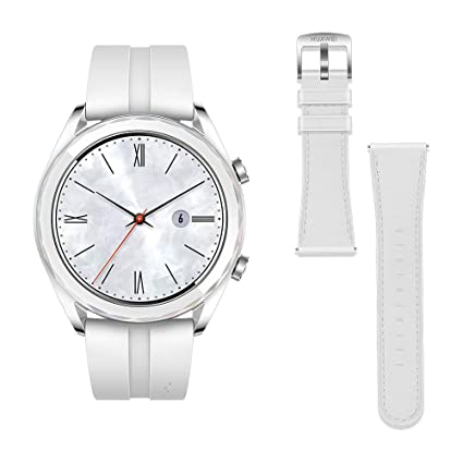 Huawei Watch GT Elegant - Reloj Inteligente, Blanco, 42 mm, Reloj+Correa