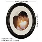Gallery Solutions 11x14 Black Oval Wall Frame