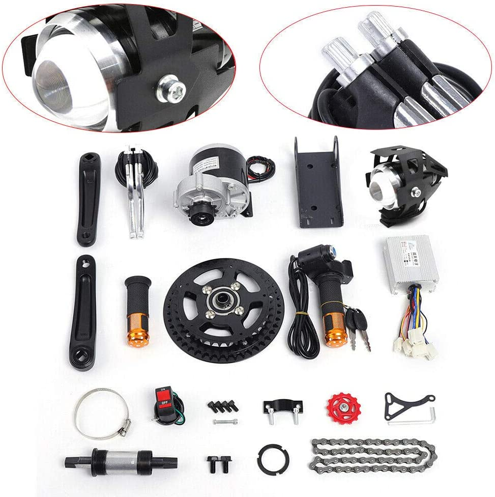 DYRABREST 350//450W Electric Bicycle DIY Mid Drive Motor Kit Electric Bike Central Motor Conversion Kit for 16-26 Bike