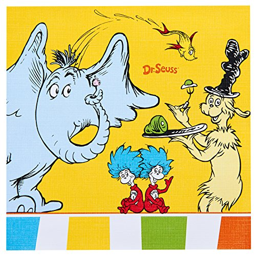 BirthdayExpress Dr Seuss Cat in The Hat Party Supplies - Lunch Napkins -