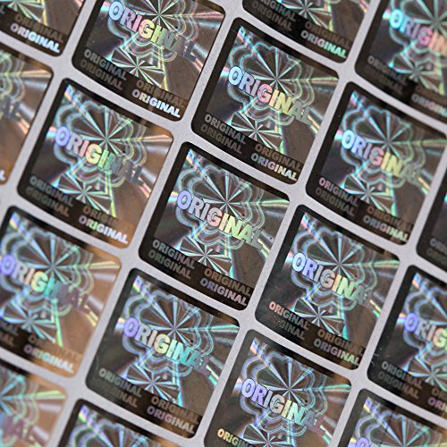 m original label size 1.51.5CM 500pcs a lot tamper evident label sticker (1 Hologram Laser)