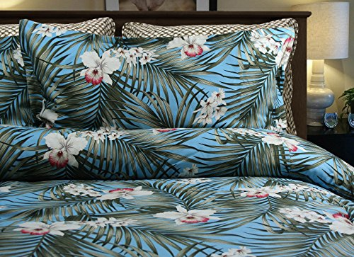 Tropical Island Life Bedding By Dean Miller - Queen / Full Size Duvet Cover with Std Shams by Dean Miller Surf Bedding