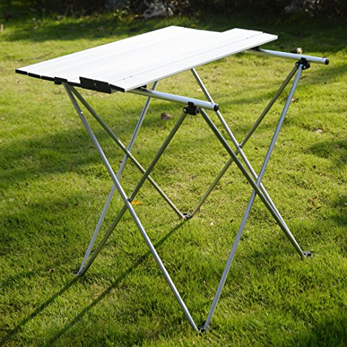 Roll Up Aluminum Table Folding Outdoor Indoor Camping Picnic Trips W/ Bag Heavy Duty #287 (Space Coast Craigslist Garage Sales)