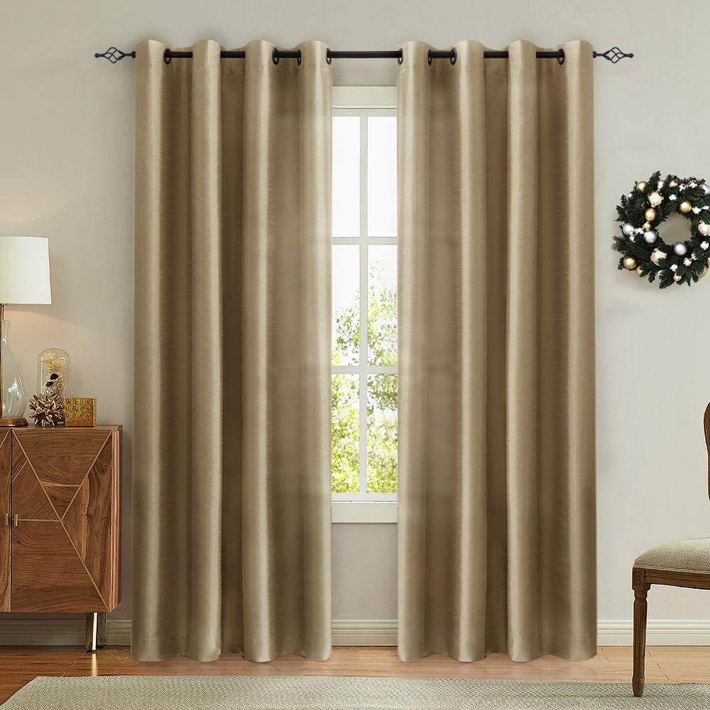 Living Room Light Brown Curtains