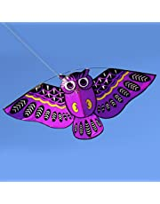 FUNCOCO Owl Kite, Easy Flyer Kite for Kids - Easy to Assemble, Launch, Fly- Perfect for Beach or Park by Hengda Kite( Purple)