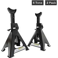 Apextreme Steel Jack Stands 6 Ton Capacity,1 Pair Self-Locking Design Jack Stands