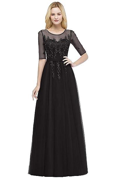 Amazon.com: Fatapaese - Vestido de dama de honor para mujer ...