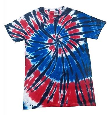 Amazon.com: Buy Cool Shirts Mens Tie Dye Shirt Red White Blue USA ...