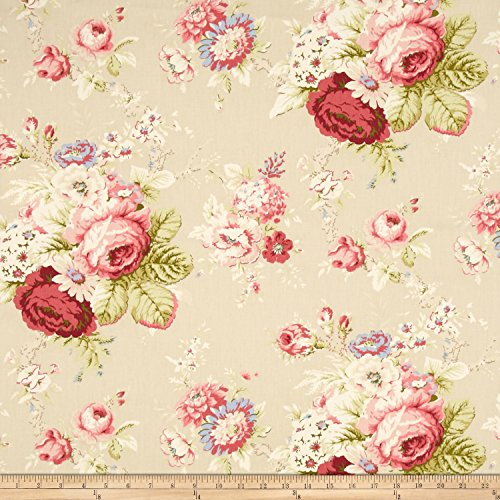 WAVERLY Sanctuary Rose Fabric, Linen ()