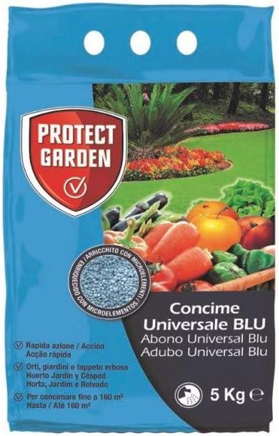 PROTECT GARDEN Abono Universal BLU Fertilizante Azul Granulado de Acción Rápida, Huerto, Jardín y Césped, 5 kg: Amazon.es: Jardín
