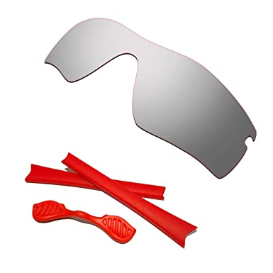 09df7c41bfa Image Unavailable. Image not available for. Color  HKUCO Silver Polarized  Replacement Lenses plus Red ...