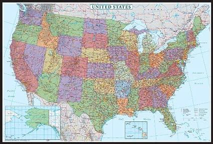 Amazon.com : 24x36 United States, USA US Decorator Wall Map Poster ...