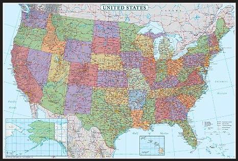Amazon.com: Estados Unidos, EE. UU. US Decorador Mapa de ...