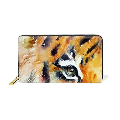 97a292fc3040 Abstract Tiger Wallets for Women Card Holder Zipper Purse Phone ...