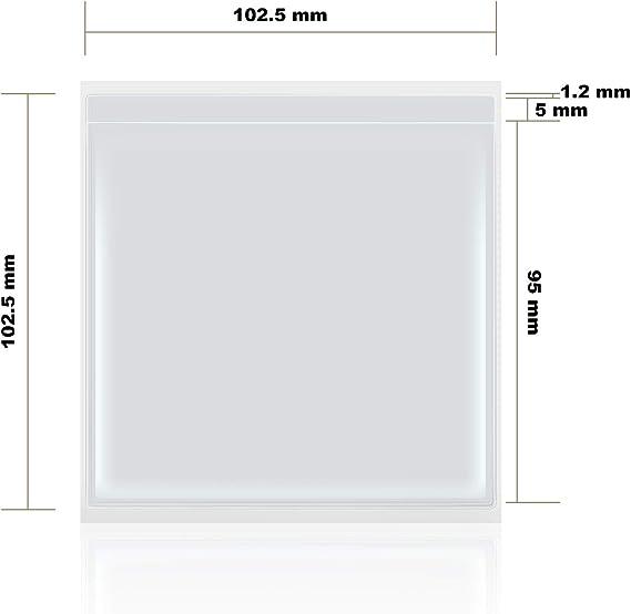 Parkausweis Selbstklebende Inhaber f/ür Ausweise und P/ässe 10 St/ück, 9 x 9 cm