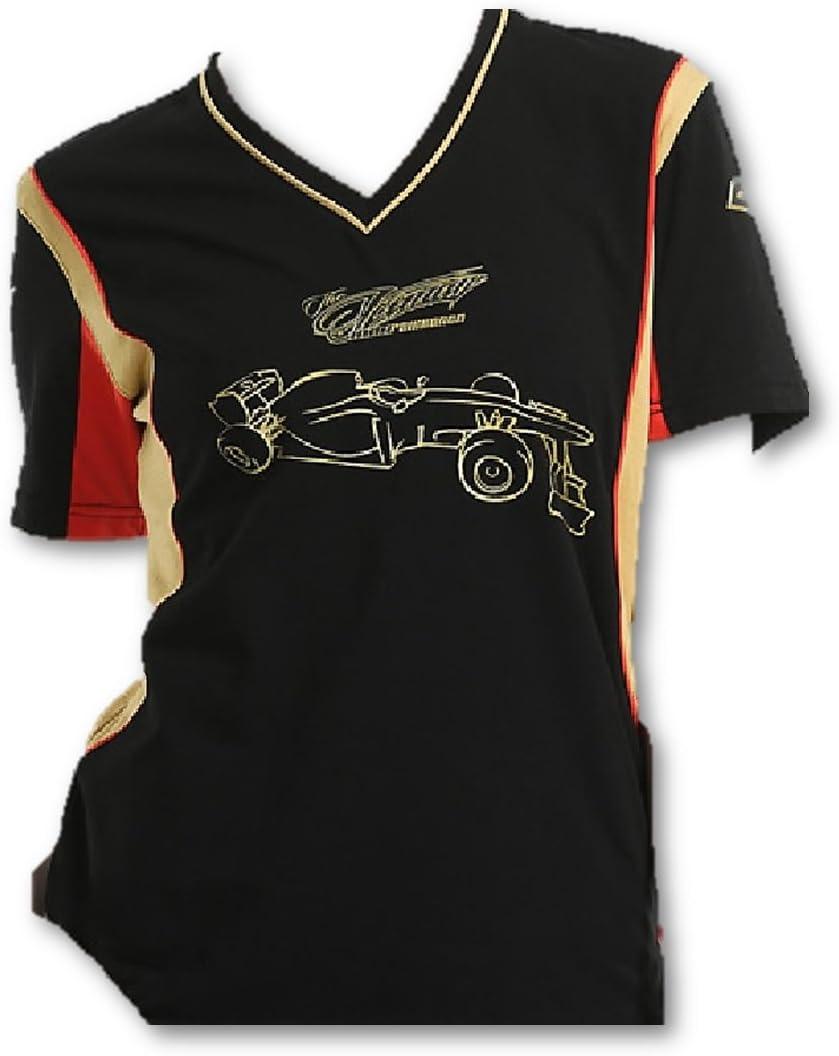 Lotus F1 Team - Camiseta de color negro de Formula One 1 - Raikkonen, Mujer, Negro , pequeño: Amazon.es: Deportes y aire libre