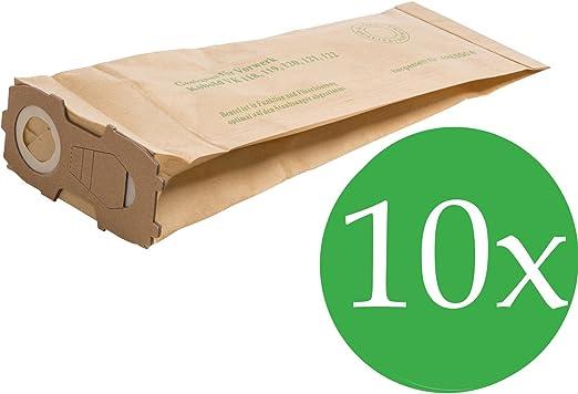 10 bolsas para aspiradoras Vorwerk Kobold 118, 119, 120, 121, 122 con muy potente de brida (4. MM): Amazon.es: Hogar