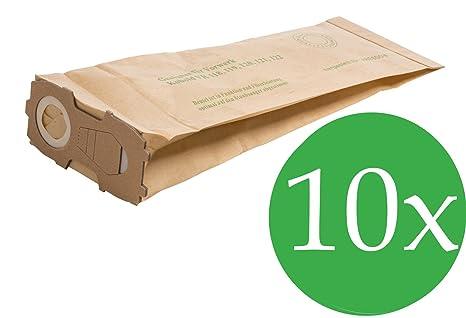 8750bbc62 10 bolsas para aspiradoras Vorwerk Kobold 118, 119, 120, 121, 122 con