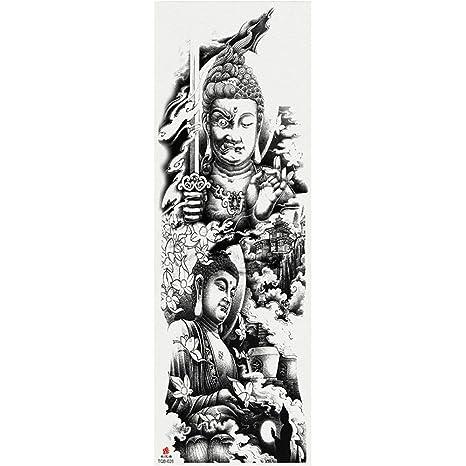 Etiquetas engomadas del tatuaje del brazo lleno del arte del ...