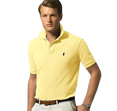 00d66e6ae97a Polo Ralph Lauren Classic Fit Mesh Polo Shirt Fall Yellow at Amazon ...
