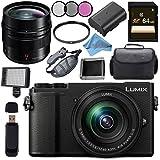 Panasonic Lumix DC-GX9 Mirrorless Micro Four Thirds Digital Camera with 12-60mm Lens (Black) + Panasonic Leica DG Summilux 12mm f/1.4 ASPH. Lens Bundle