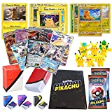 Playoly Premium Mystery Detective Pikachu Case File with Ultra Rare, 2 Booster Pack, Pikachu Figures, Deck Box, Binder, 100 Sleeves