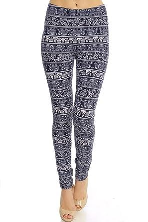 e1c024b2ee7e29 Elephant Leggings (One Size) at Amazon Women's Clothing store: