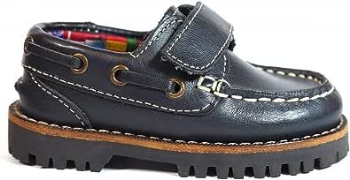 Zapatos para Hombre Fabricados en Piel Niños La Valenciana 031 Marino