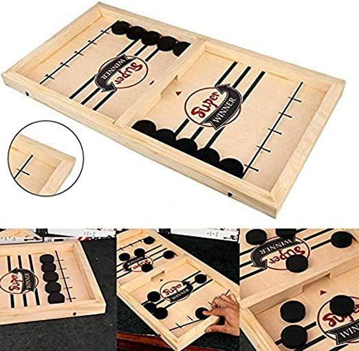Slingpuck Boardgame Juego SlingPuck rápido Ganador de ritmo Juegos de mesa Juegos de mesa educativos interactivos portátiles para padres e hijos para niños Familia adulta: Amazon.es: Oficina y papelería