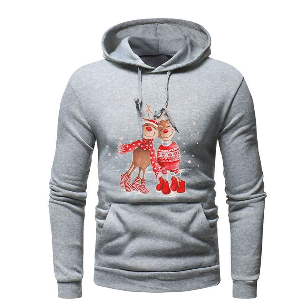 6837d031f Magiyard Hommes Longue Manche L'automne Hiver Noël Décontractée Sweat-Shirt  Hoodies Survêtements
