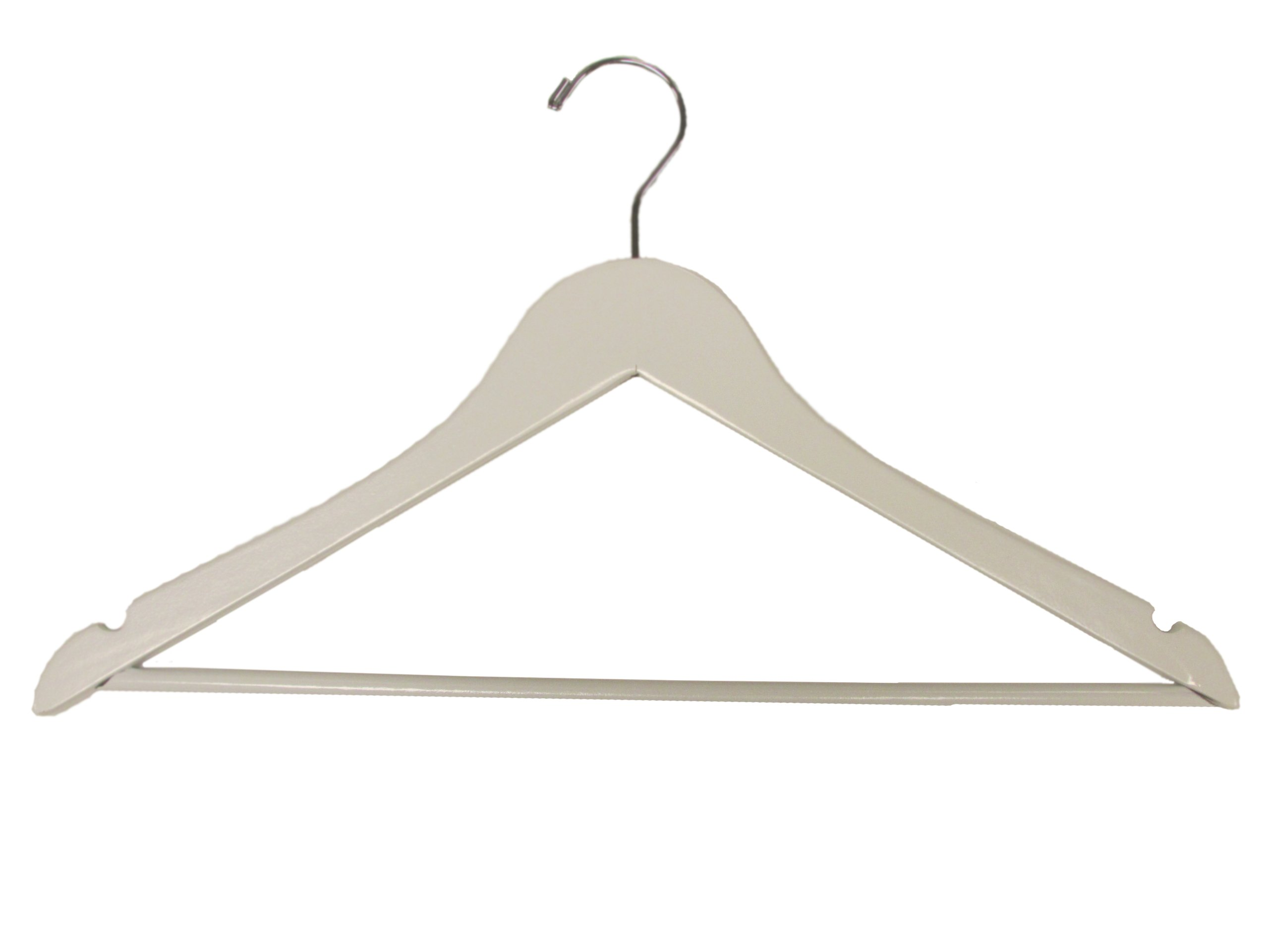 Wooden Suit Hangers White Box of 100