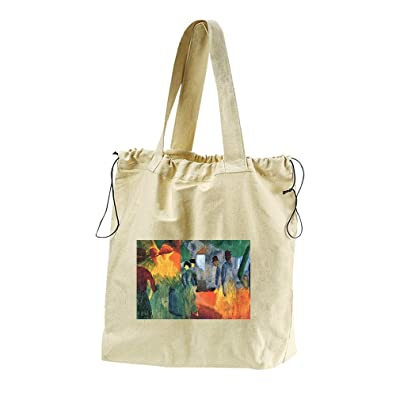 People In The Park (August Macke) Canvas Drawstring Beach Tote Bag
