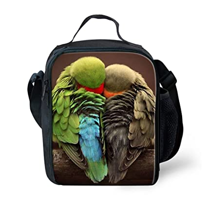 9c50774f1efb Amazon.com: LedBack 3D Birds Parrot Printing Lunch Bag for Kids ...